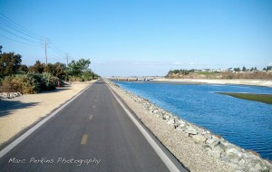 The Santa Ana River Trail between Victoria/Hamilton and the beach is beautiful at high tide.