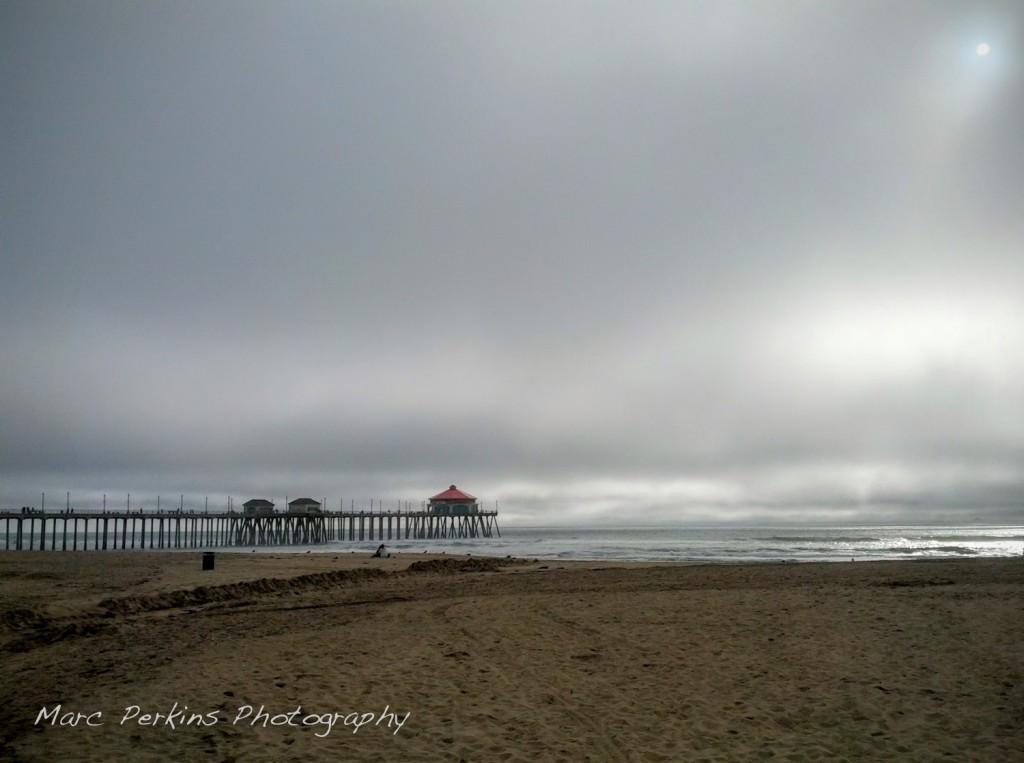 Huntington Beach Pier, when I first arrived.