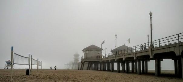 Fog at the Huntington Beach Pier.
