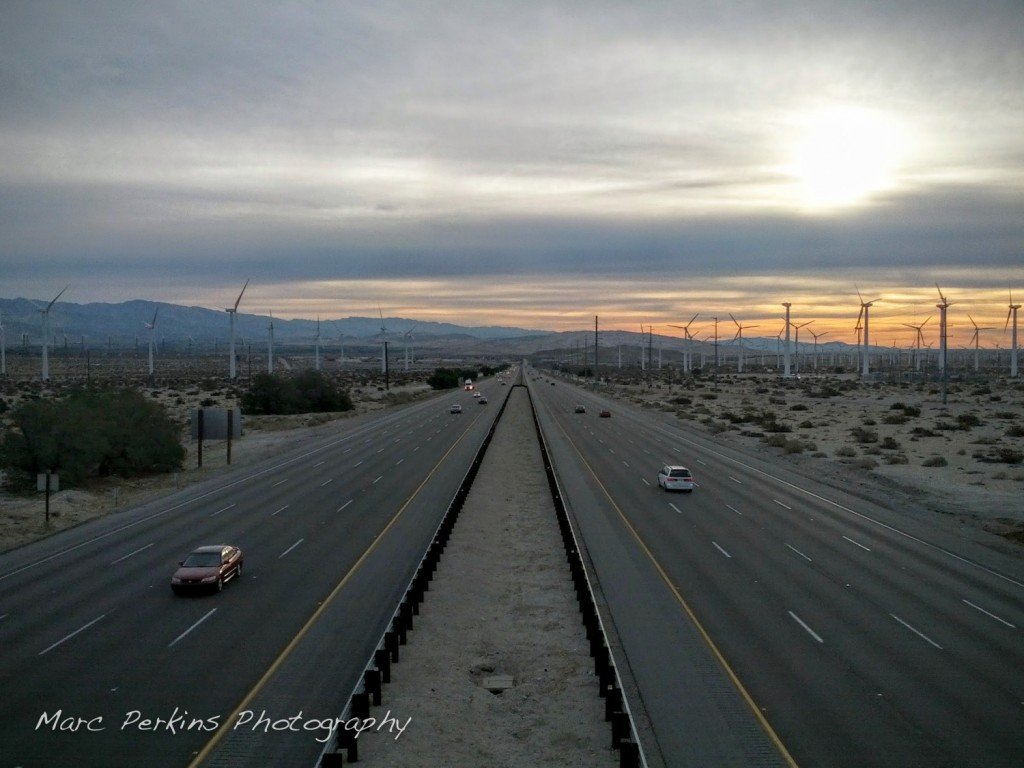 Crossing over the 10 freeway early in the morning was beautiful.
