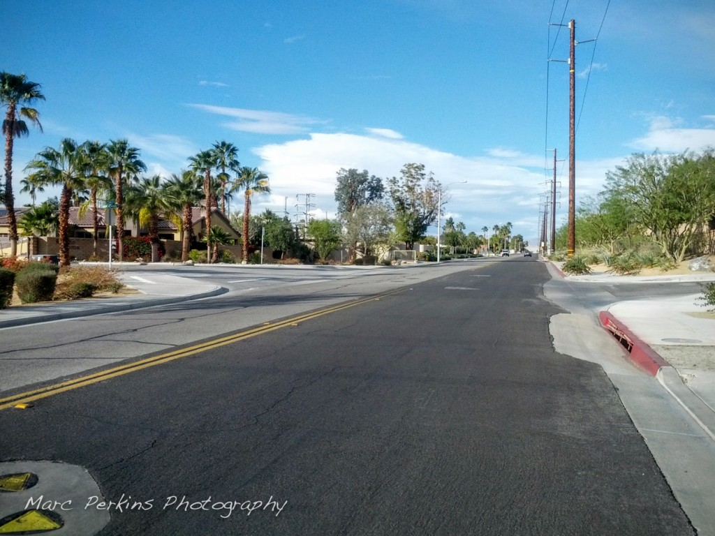 Riding on the border of Cathedral City and Rancho Mirage during the Tour de Palm Springs.