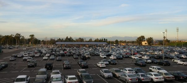 The Adams Parking Lot of Orange Coast College.
