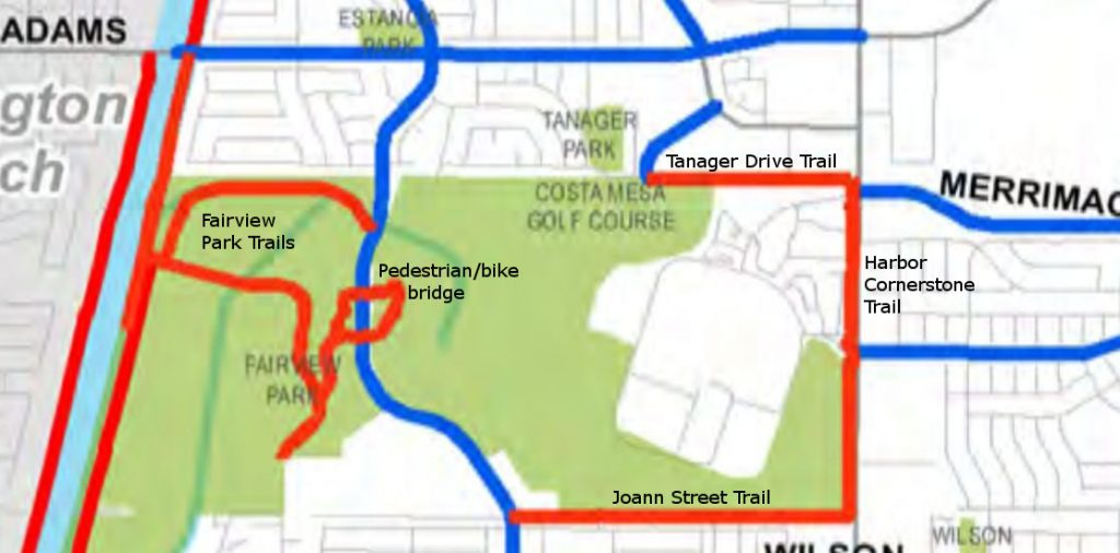 map of costa mesa bike facilities