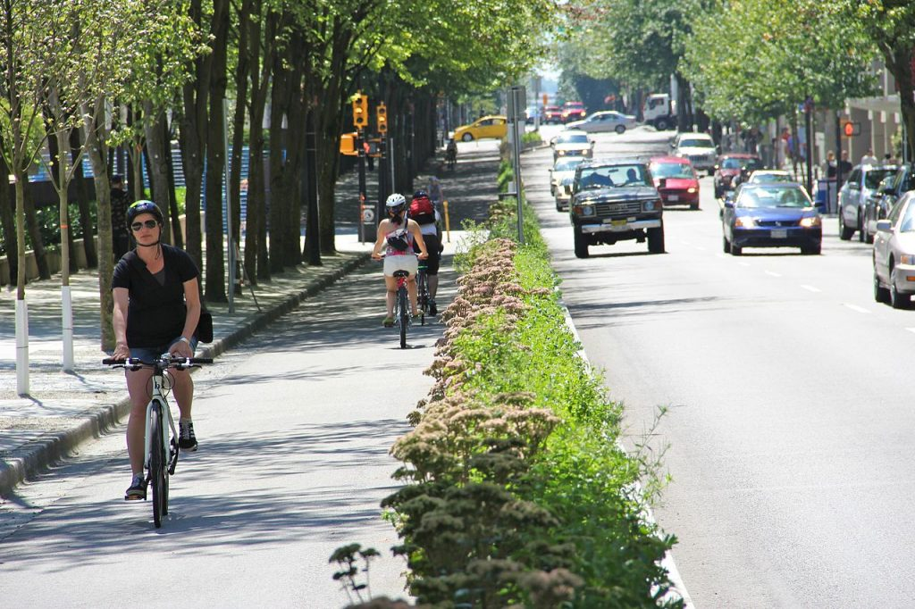 Protected bikeway.