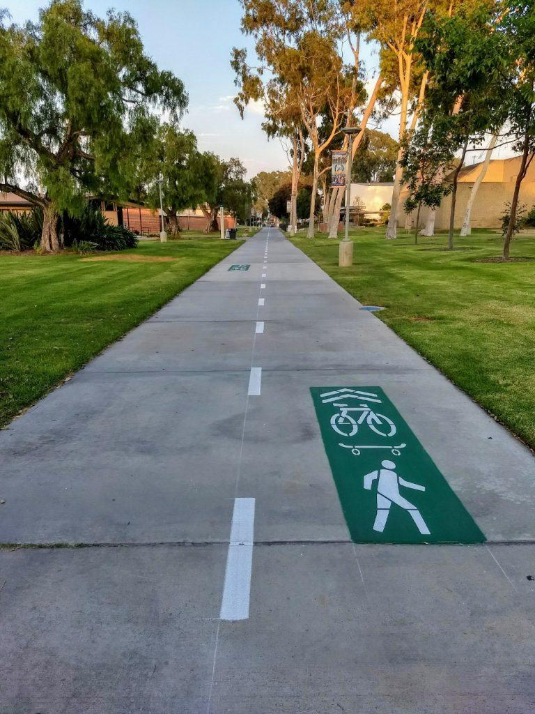 bike path on campus